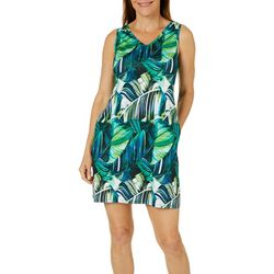 Reel Legends Womens Keep It Cool Exploded Leaves Sundress