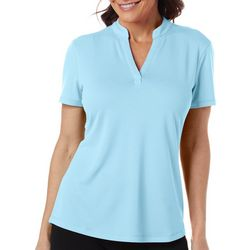 Reel Legends Womens Freeline Solid Diamond Texture Top