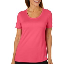 Reel Legends Womens Freeline Solid Shimmer T-Shirt
