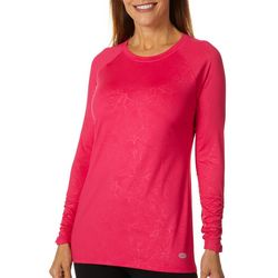 Reel Legends Womens Keep It Cool Coral Deboss Top