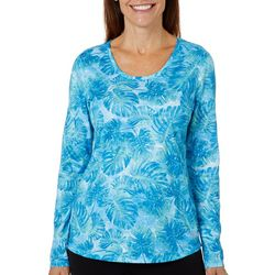 Reel Legends Womens Freeline Underwater Jungle Shimmer Top