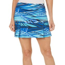 Reel Legends Womens Keep It Cool Stripe Print Skort