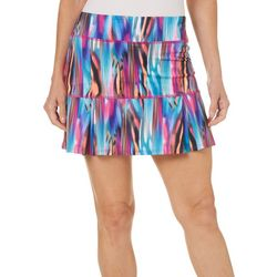 Reel Legends Womens Keep It Cool Colorful Striations Skort