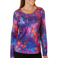 Reel Legends Womens Freeline Field Of Flowers Scoop Neck Top
