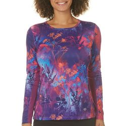 Reel Legends Womens Reel-Tec Floral Long Sleeve Top