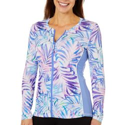 Reel Legends Womens Keep It Cool Splatter Palm Rashguard Top
