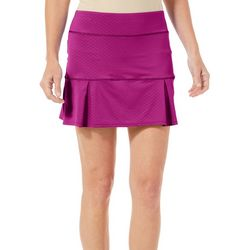 Reel Legends Womens Keep It Cool Solid Pull On Skort