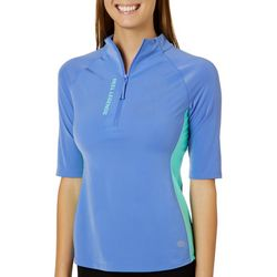 Reel Legends Womens Keep It Cool Colorblock Rashguard Top