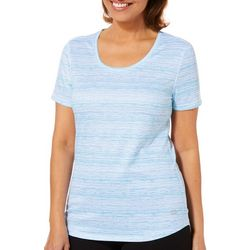 Reel Legends Womens Freeline Broken Stripe Short Sleeve Top