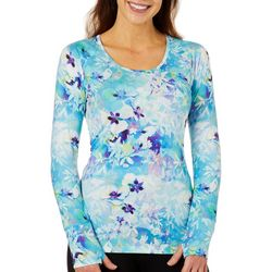 Reel Legends Womens Elite Comfort Colorful Blossom Top