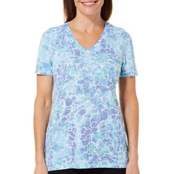 Reel Legends Womens Freeline Underwater V-Neck Top