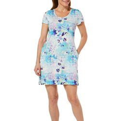 Reel Legends Womens Keep It Cool Colorful Blossom Dress
