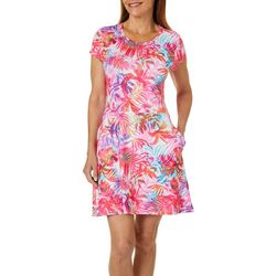 Reel Legends Womens Keep It Cool Airy Palms Open Back Dress