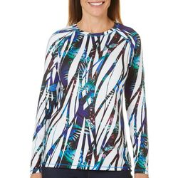Reel Legends Womens Keep It Cool Butterfly Stripes Top