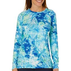 Reel Legends Womens Keep It Cool Faded Paisley Top