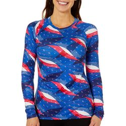 Reel Legends Womens Keep It Cool Freedom Flag Top