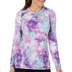 Reel Legends Womens Keep It Cool Paisley Long Sleeve Top