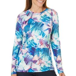 Reel Legends Womens Keep It Cool X-Ray Palm Long Sleeve Top