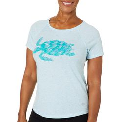 Reel Legends Womens Sea Turtle Graphic T-Shirt