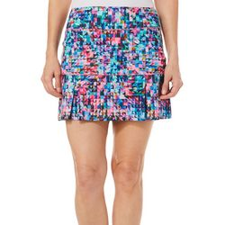 Reel Legends Womens Keep It Cool Triangular Burst Skort