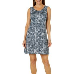 Reel Legends Womens KIC Textured Palm Cage Back Dress