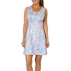 Reel Legends Womens Keep It Cool Layered Leaf Sundress