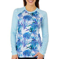 Reel Legends Womens Keep It Cool Tropical Dreams Striped Top