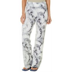 Reel Legends Womens Keep It Cool Seashell Print Beach Pants