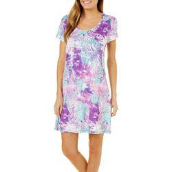 Reel Legends Womens Keep It Cool Textured Paisley Sundress