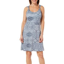 Reel Legends Womens Keep It Cool Ikat Twist Strap Dress