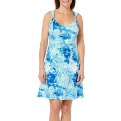 Reel Legends Womens Keep It Cool Paisley Twist Strap Dress