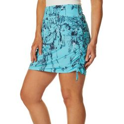 Reel Legends Womens Keep It Cool Deep End Ruched Skort
