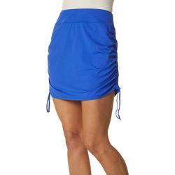 Reel Legends Womens Keep It Cool Leaf Ruched Skirt