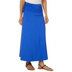 Reel Legends Womens Keep It Cool Leaf Detail Maxi Skirt