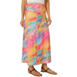Reel Legends Womens Keep It Cool Sweeping Palms Maxi Skirt