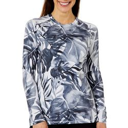 Reel Legends Womens Keep It Cool Watercolor Leaves Top