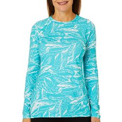 Reel Legends Womens Keep It Cool Graphic Palms Top