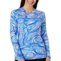 Reel Legends Womens Keep It Cool Graphic Waves Top