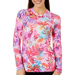 Reel Legends Womens Keep It Cool Airy Palms Top