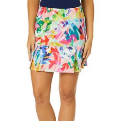 Reel Legends Womens Keep It Cool Colorful Scribbled Skort