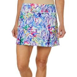 Reel Legends Womens Keep It Cool Rainbow Jungle Skort