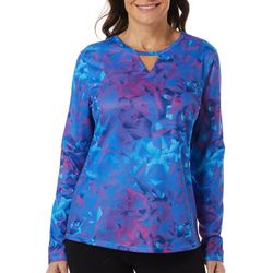 Reel Legends Womens Freeline Geo Stripe Long Sleeve Top