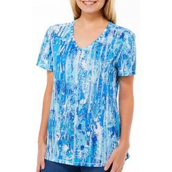 Reel Legends Womens Freeline Color Track Shimmer Top