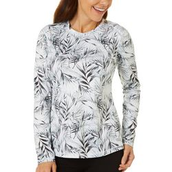 Reel Legends Womens Freeline Halftone Palms Shimmer Top