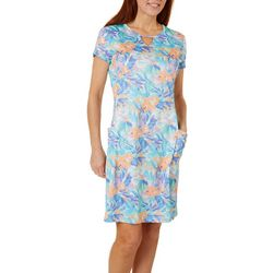 Reel Legends Womens Freeline Moving Floral Shimmer Dress