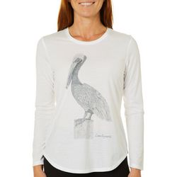 Reel Legends Womens Pelican Print Long Sleeve Top