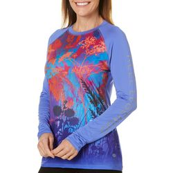 Reel Legends Womens Keep It Cool Field Of Flowers Top