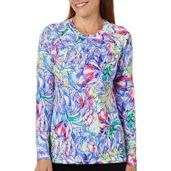 Reel Legends Womens Keep It Cool Rainbow Jungle Top