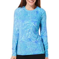 Reel Legends Womens Keep It Cool Coral Puzzle Top