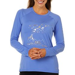 Reel Legends Womens Keep It Cool Geometric Dolphin Top